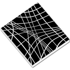 Black and white elegant lines Small Memo Pads