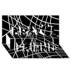 Black and white elegant lines Best Friends 3D Greeting Card (8x4)