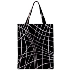 Black and white elegant lines Classic Tote Bag
