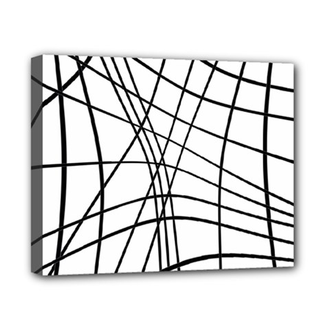 Black and white decorative lines Canvas 10  x 8