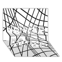 Black and white decorative lines YOU ARE INVITED 3D Greeting Card (7x5)