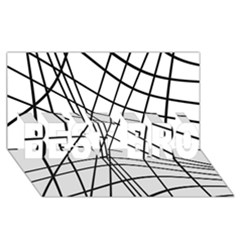 Black and white decorative lines BEST BRO 3D Greeting Card (8x4)