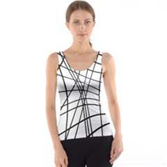 Black and white decorative lines Tank Top