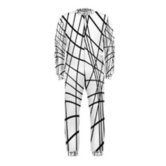 Black and white decorative lines OnePiece Jumpsuit (Kids)