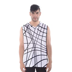 Black And White Decorative Lines Men s Basketball Tank Top