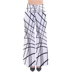 Black and white decorative lines Pants