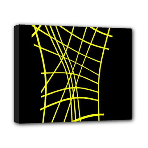 Yellow abstraction Canvas 10  x 8