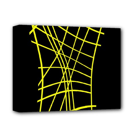 Yellow abstraction Deluxe Canvas 14  x 11