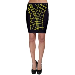 Yellow abstraction Bodycon Skirt