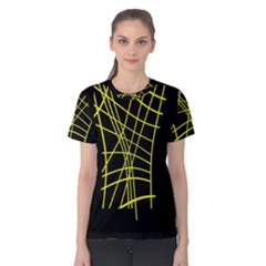 Yellow abstraction Women s Cotton Tee