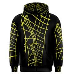 Yellow abstraction Men s Zipper Hoodie