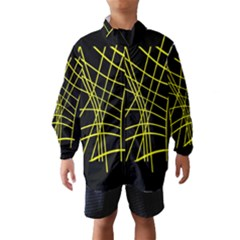 Yellow Abstraction Wind Breaker (kids)