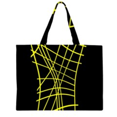 Yellow abstraction Zipper Large Tote Bag