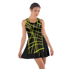 Yellow abstraction Racerback Dresses