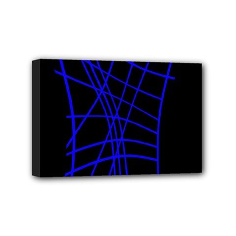 Neon blue abstraction Mini Canvas 6  x 4