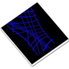 Neon blue abstraction Small Memo Pads