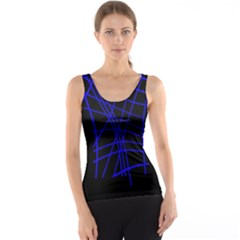 Neon blue abstraction Tank Top
