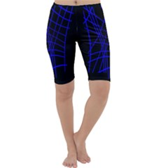 Neon blue abstraction Cropped Leggings