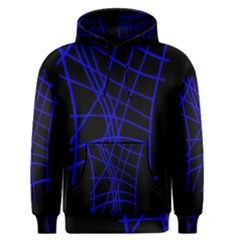 Neon blue abstraction Men s Pullover Hoodie