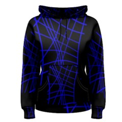 Neon blue abstraction Women s Pullover Hoodie
