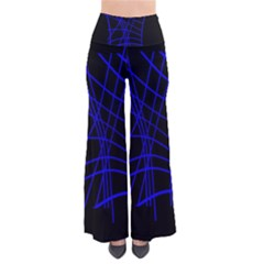 Neon Blue Abstraction Pants