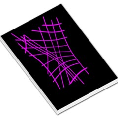 Neon purple abstraction Large Memo Pads
