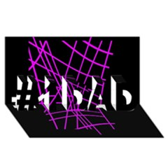 Neon purple abstraction #1 DAD 3D Greeting Card (8x4)