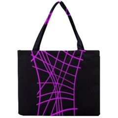 Neon purple abstraction Mini Tote Bag