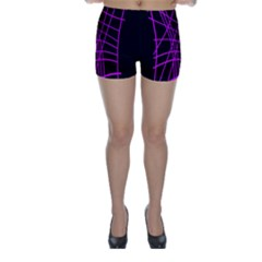 Neon purple abstraction Skinny Shorts