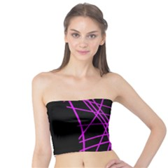 Neon purple abstraction Tube Top
