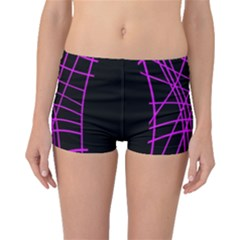 Neon purple abstraction Boyleg Bikini Bottoms