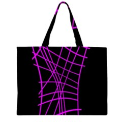 Neon purple abstraction Large Tote Bag
