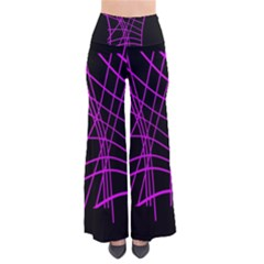 Neon purple abstraction Pants