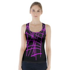 Neon purple abstraction Racer Back Sports Top