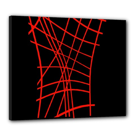 Neon red abstraction Canvas 24  x 20