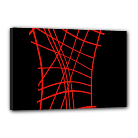 Neon red abstraction Canvas 18  x 12