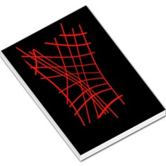 Neon red abstraction Large Memo Pads