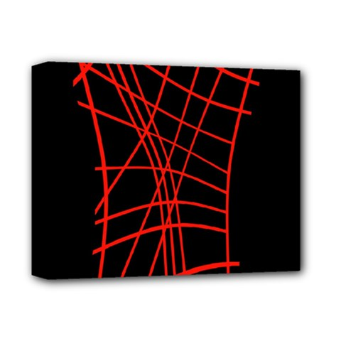 Neon red abstraction Deluxe Canvas 14  x 11