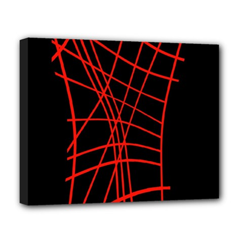 Neon red abstraction Deluxe Canvas 20  x 16