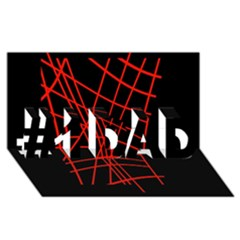 Neon red abstraction #1 DAD 3D Greeting Card (8x4)