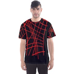 Neon red abstraction Men s Sport Mesh Tee