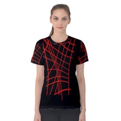 Neon red abstraction Women s Cotton Tee