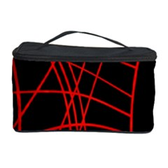 Neon red abstraction Cosmetic Storage Case