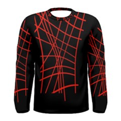 Neon red abstraction Men s Long Sleeve Tee