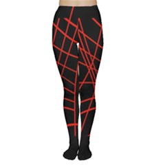 Neon red abstraction Women s Tights