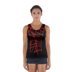 Neon Red Abstraction Women s Sport Tank Top