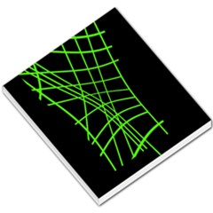 Green neon abstraction Small Memo Pads