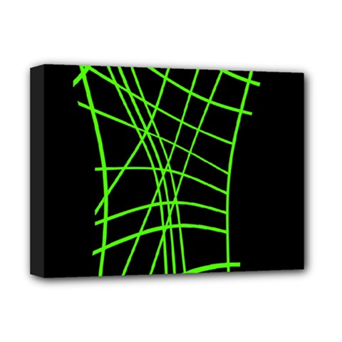 Green neon abstraction Deluxe Canvas 16  x 12