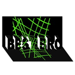 Green neon abstraction BEST BRO 3D Greeting Card (8x4)