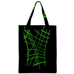 Green neon abstraction Zipper Classic Tote Bag